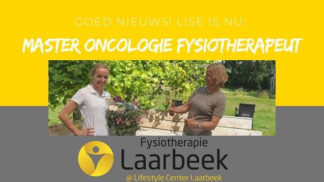Lise van Bokhoven heeft haar Master Oncologie fysiotherapie behaald!