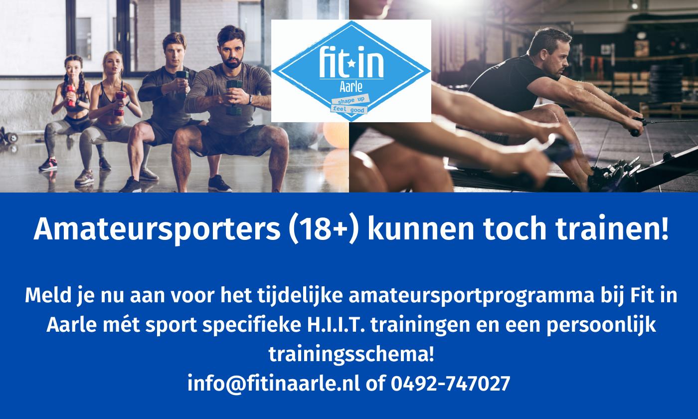 Amateursport/teamsport abonnement bij Fit in Aarle