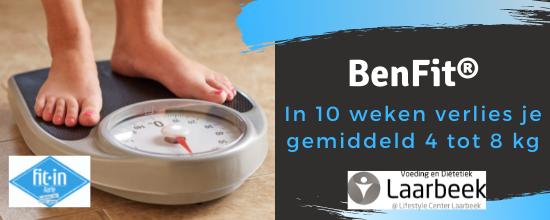 Start nu met BenFit en verlies in 10 weken tijd 5-8 kilo
